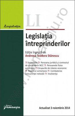 Legislatia intreprinderilor. Coordonator: Andreea-Teodora Stanescu