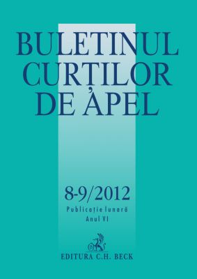 Buletinul Curtilor de Apel Nr. 8-9/2012
