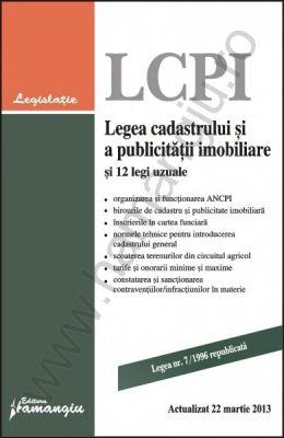 Legea cadastrului si a publicitatii imobiliare si 12 legi uzuale 2013