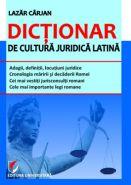 Dictionar de cultura juridica latina | Autor: Lazar Carjan